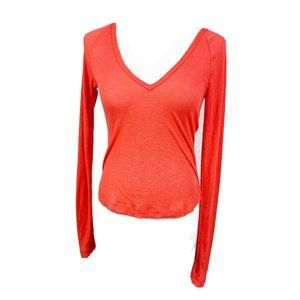 NEW FP Movement ribbed v-neck long sleeve top